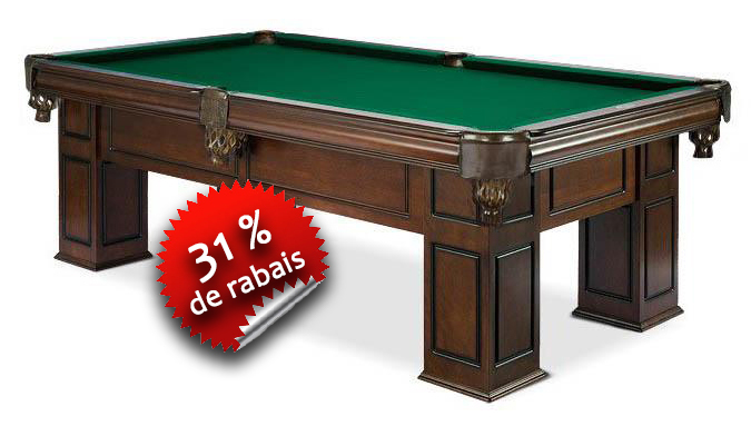 Table de Billard Majestic Frontenac au fini noyer